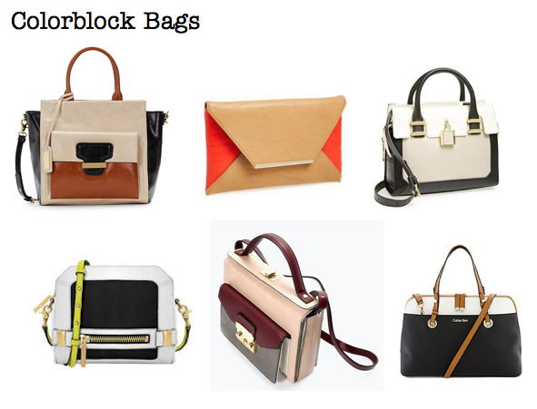 Fall 2014 trends: colorblock bags