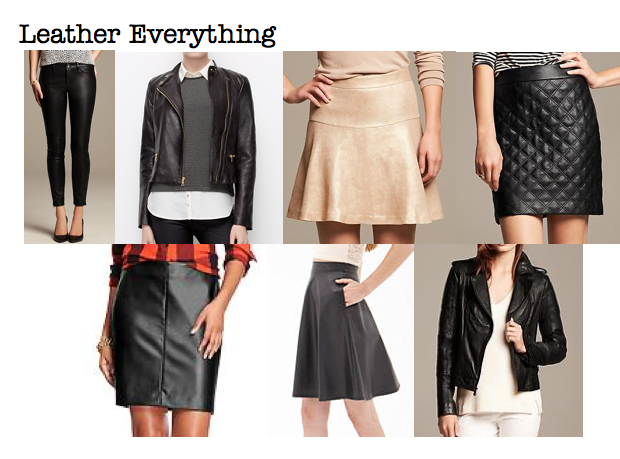 Fall 2014 trends: leather everything