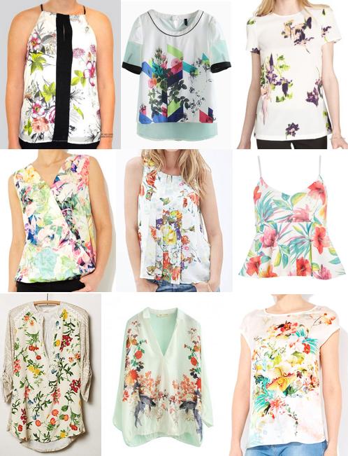 Floral tops under $100