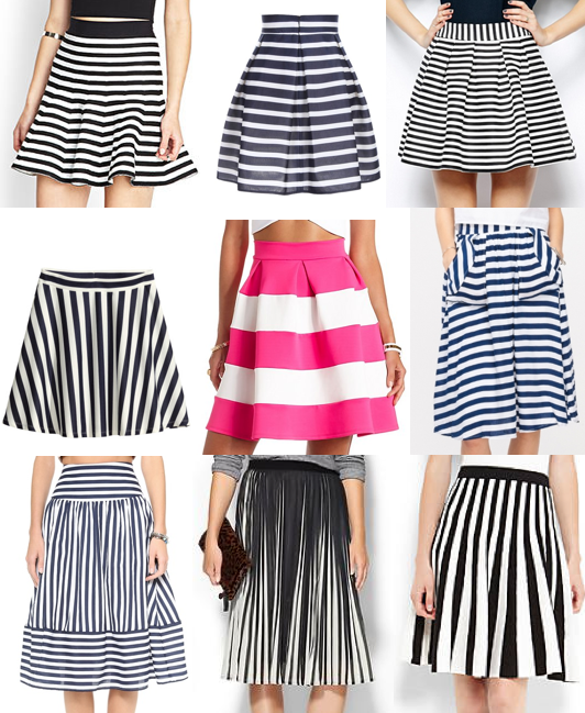 Striped skirts under $100