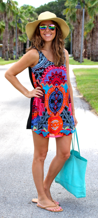 Forever 21 tribal print shift dress