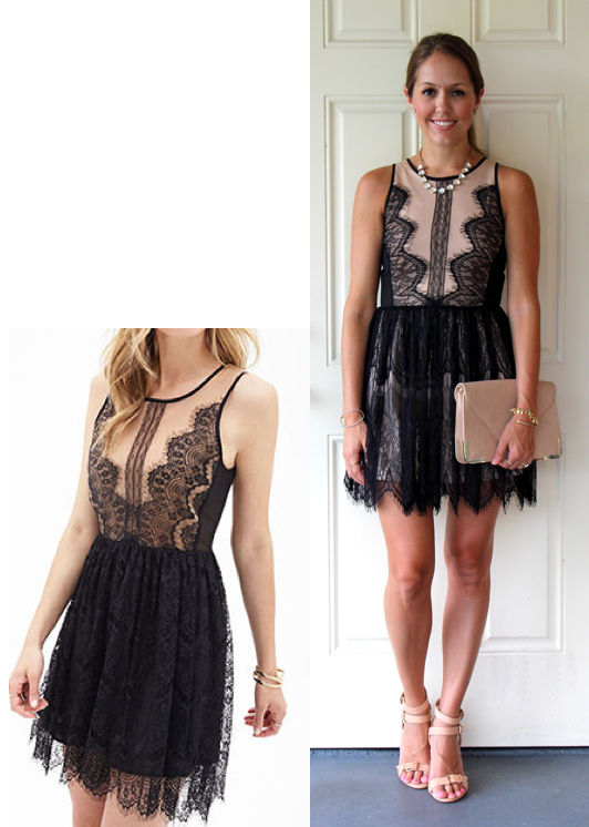 F21 eyelash lace tea dress