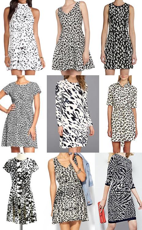 Animal print dresses on a budget