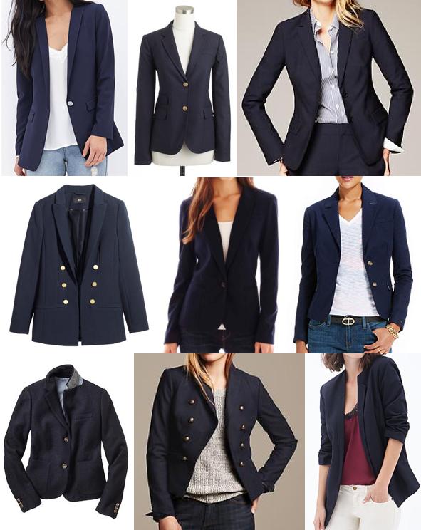 Navy blazers under $200