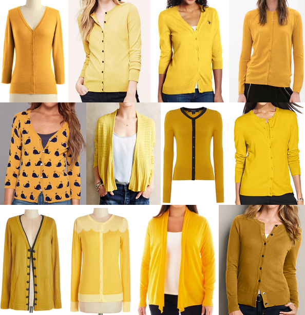 Shop mustard cardigans on a budget