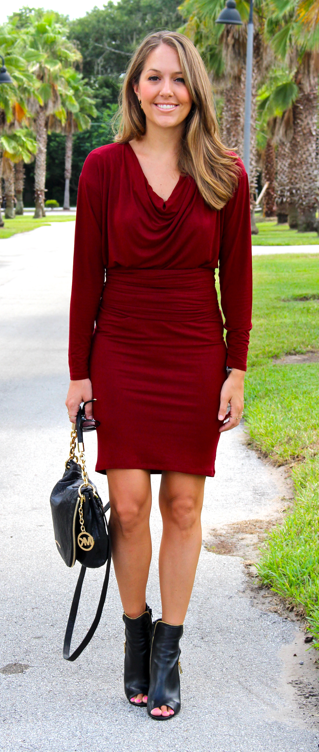 HSN Hal Rubenstein dress and Vince Camuto shooties