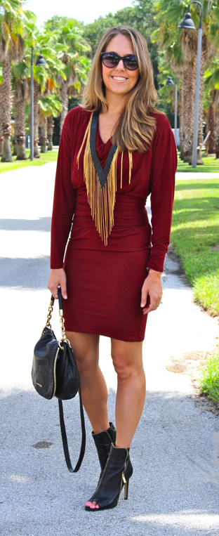 HSN dress, necklace and shoes