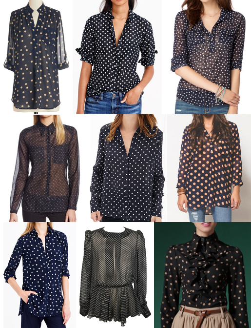 Polka dot tops under $100