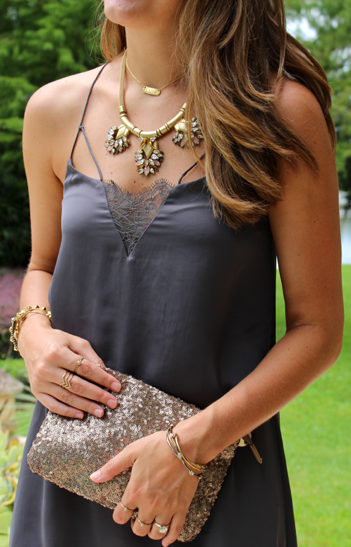 H&M dress with Stella & Dot jewlery