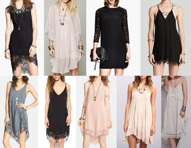 Boho and lace dresses under $100