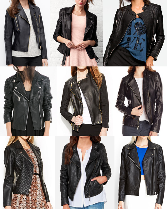 Black leather and vegan jackets for all budgets