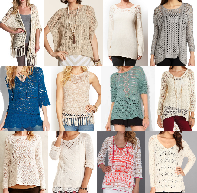 Open weave sweaters under $100