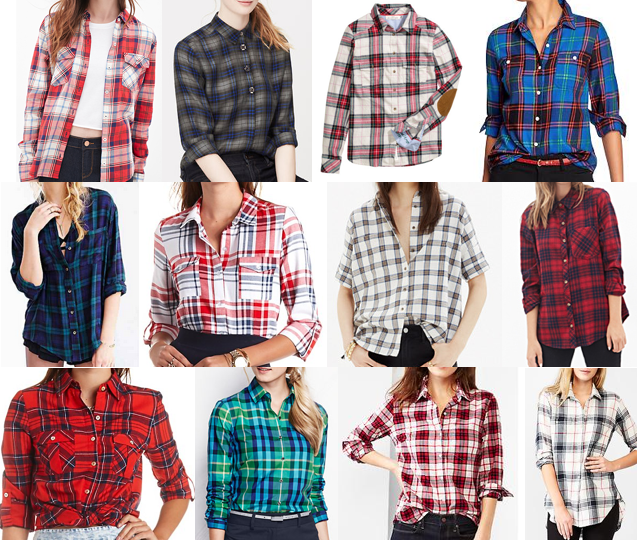 Plaid tops on a budget