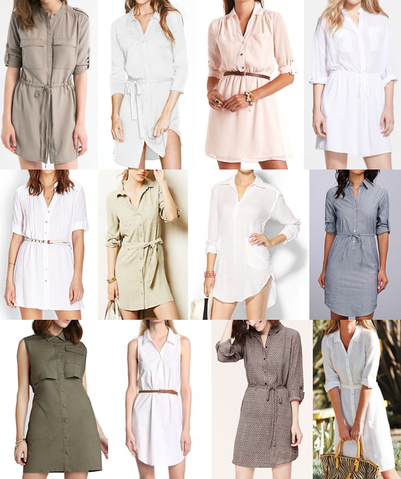 Silky shirtdresses under $100