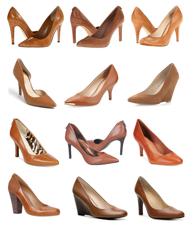 Cognac pumps under $100