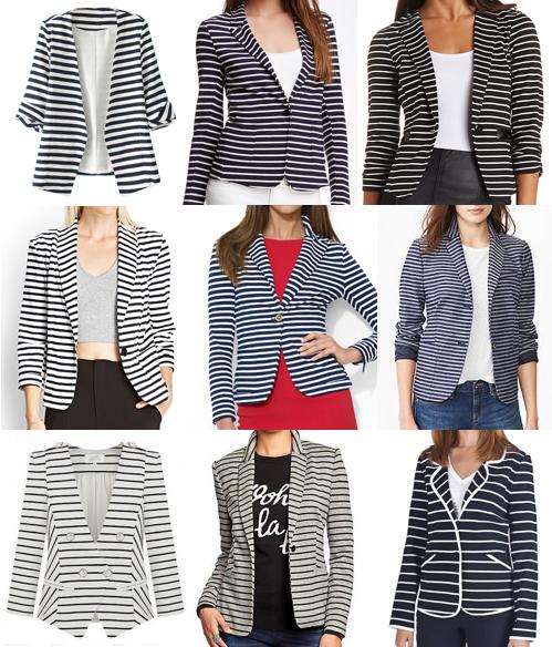 Striped blazers under $100
