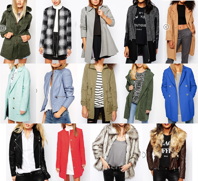 ASOS coats under $150