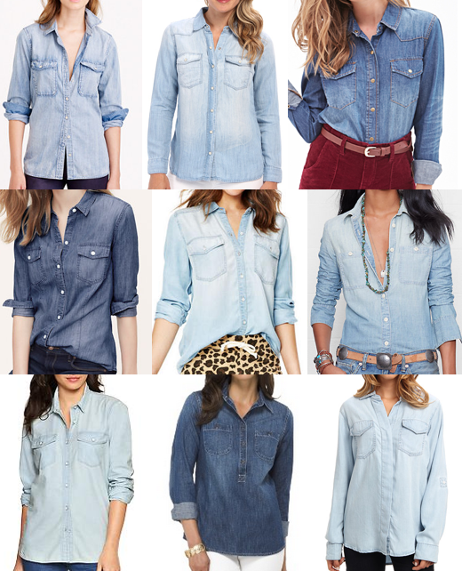 Chambray tops under $100