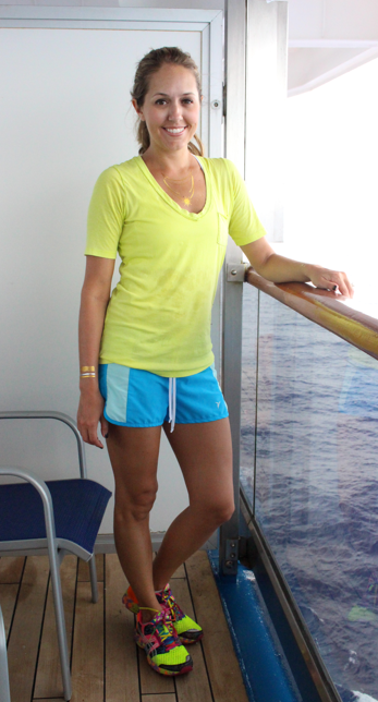 Gym gear on a cruise
