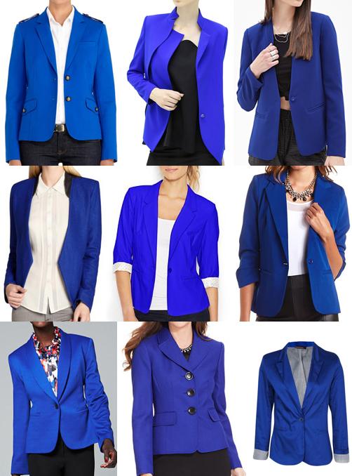 Cobalt blazers under $100
