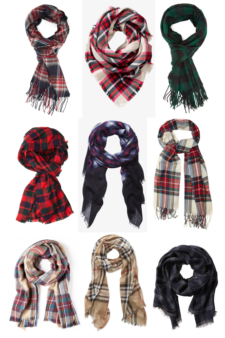 Plaid scarves under $60