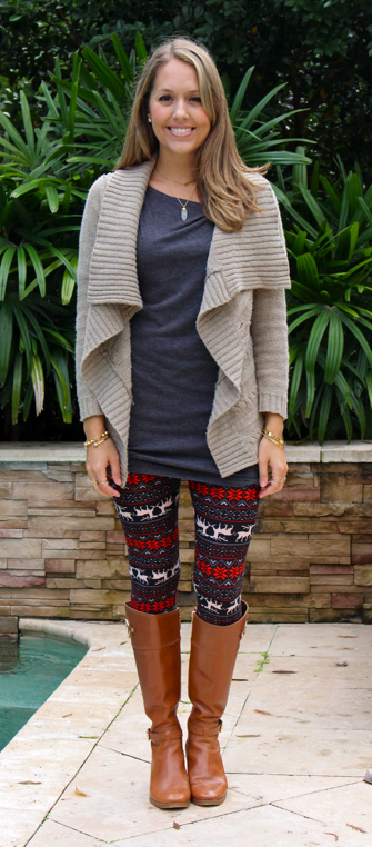 White Plum reindeer leggings