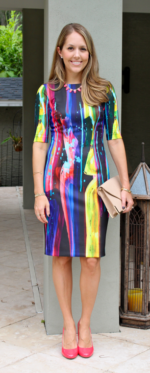Betsey Johnson rainbow sheath