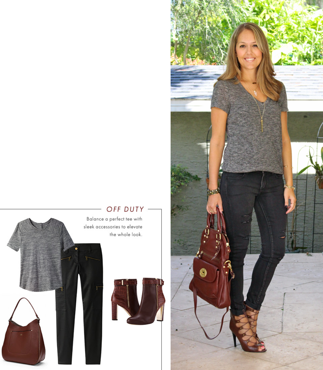 Inspiration: Ann Taylor  top  /  pants  /  purse