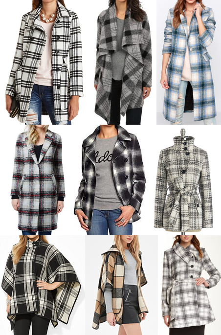 Plaid outerwear on a budget