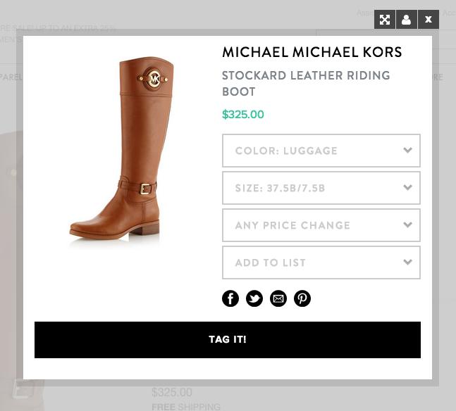 Shoptagr price alert