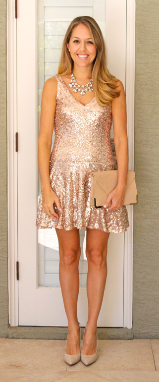 Guess Kendall gold sequin dress