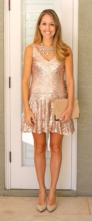 Guess Kendall gold sequin dress