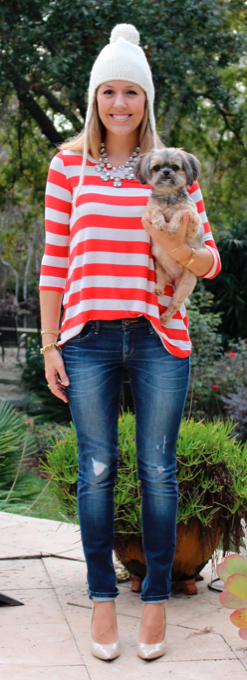 J's Everyday Fashion - candy cane stripes