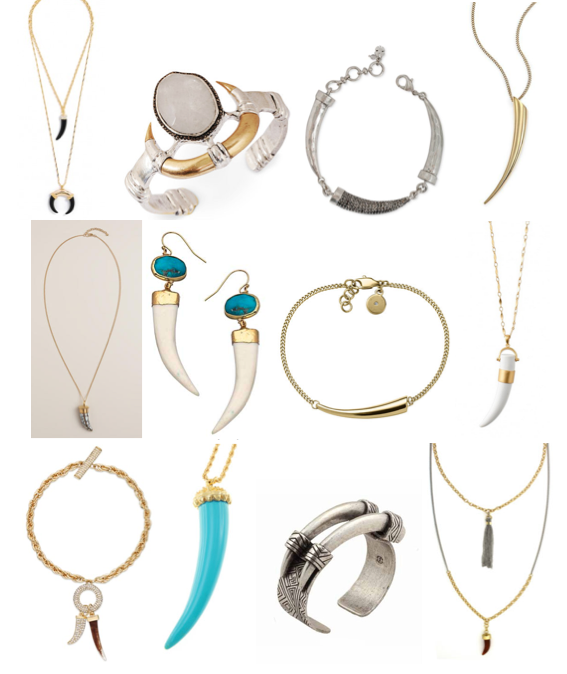 Jewelry trend: horn shapes on a budget