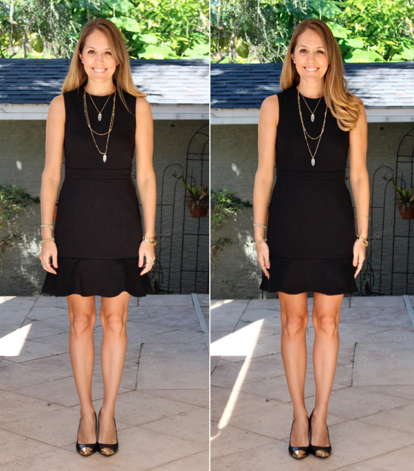 LOFT peplum dress: regular vs. petite