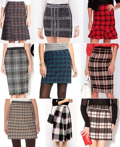 Plaid skirts under $100
