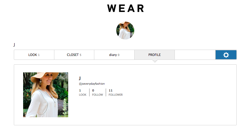 My WEAR Profile