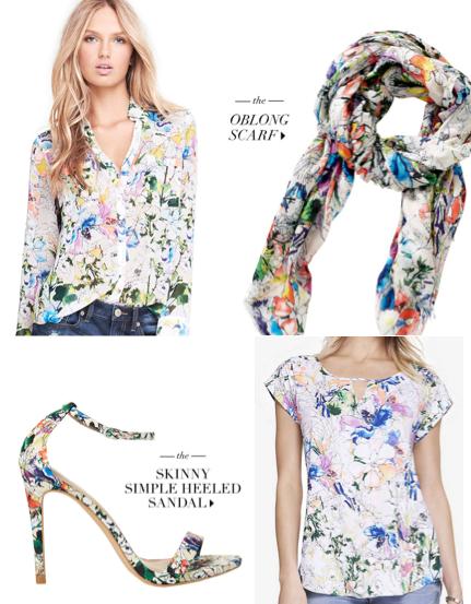 Express white floral print