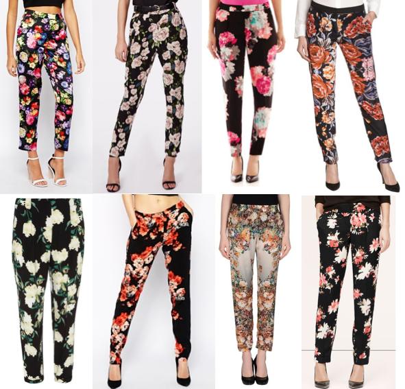 Floral pants under $100