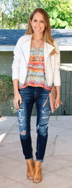 HSN jacket styled two ways