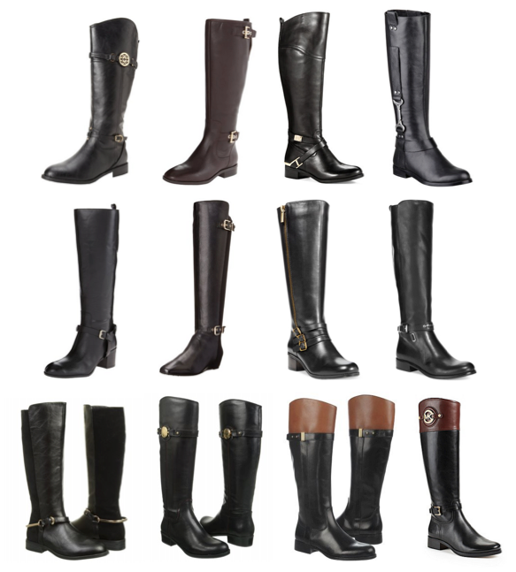 Black riding boots under $200