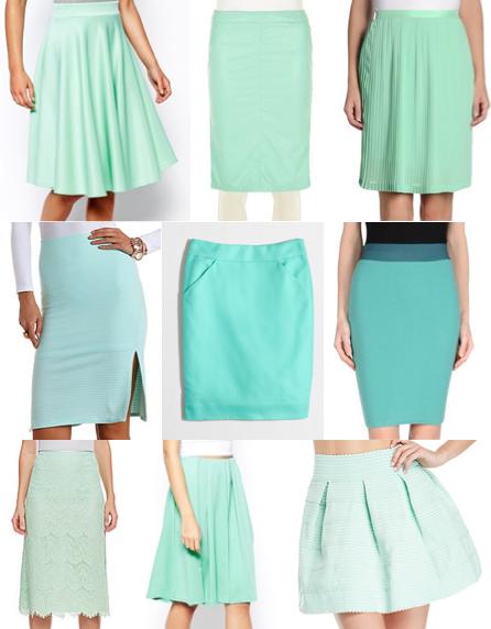 Mint skirts under $100