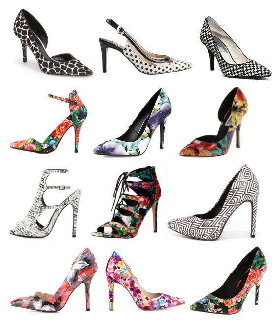 Printed pumps under $100