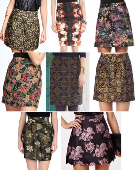 Brocade skirts under $100
