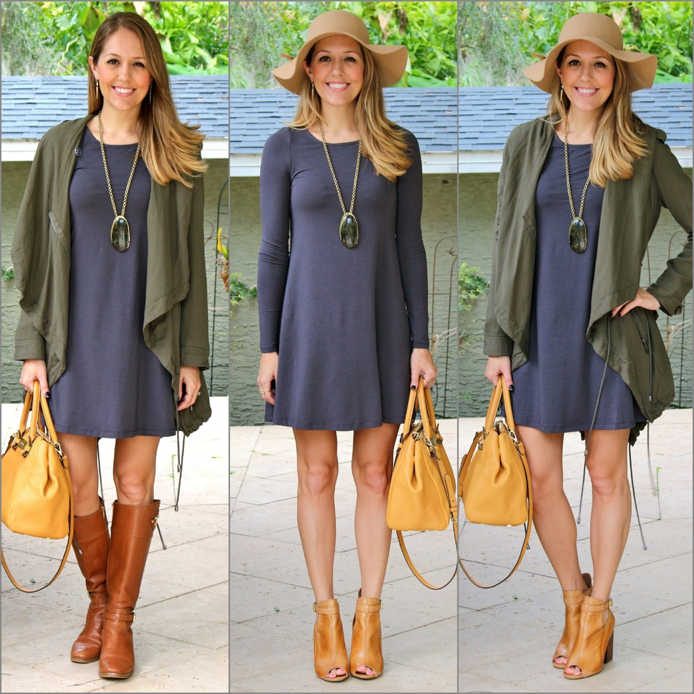 One Express gray dress x 3