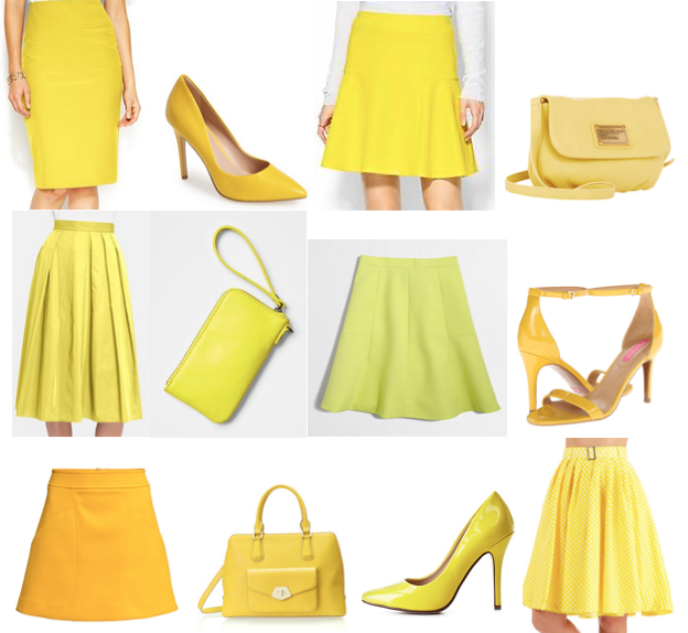 Yellow shopping picks on a budget