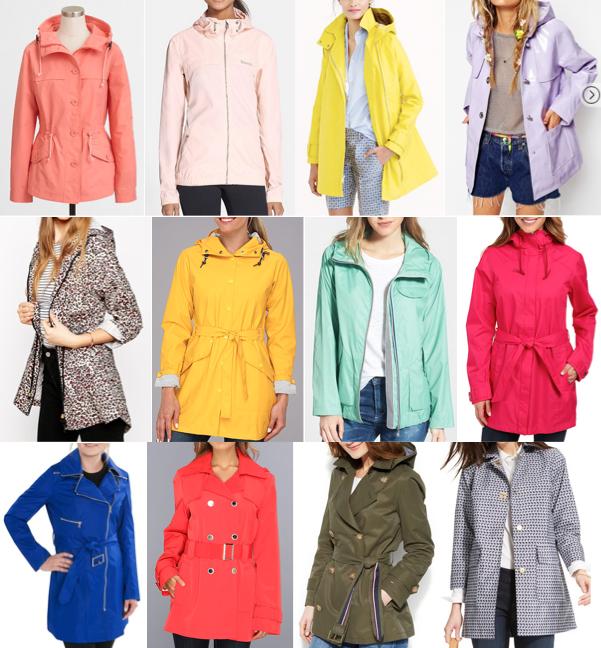 Colorful raincoats on a budget