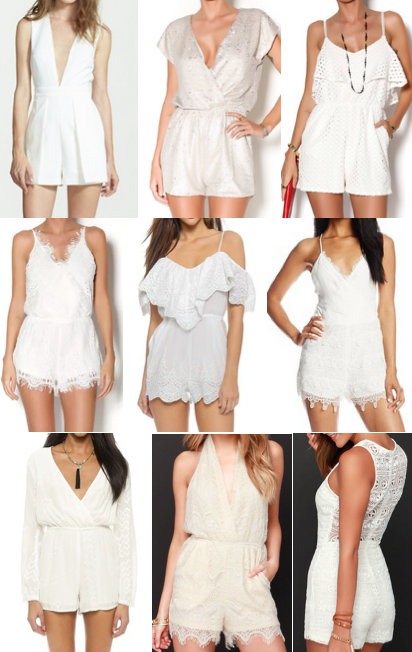White rompers under $100