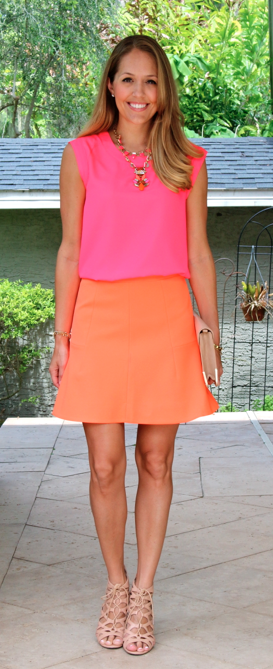 Neon pink and orange - J's Everyday Fashion