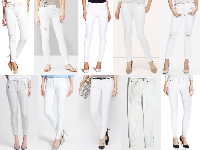 Today's Everyday Fashion: White Jeans — J's Everyday Fashion